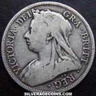 "Halfcrown 1893: Photo 1893 Queen Victoria British Silver ""Widow Head"" Half Crown"