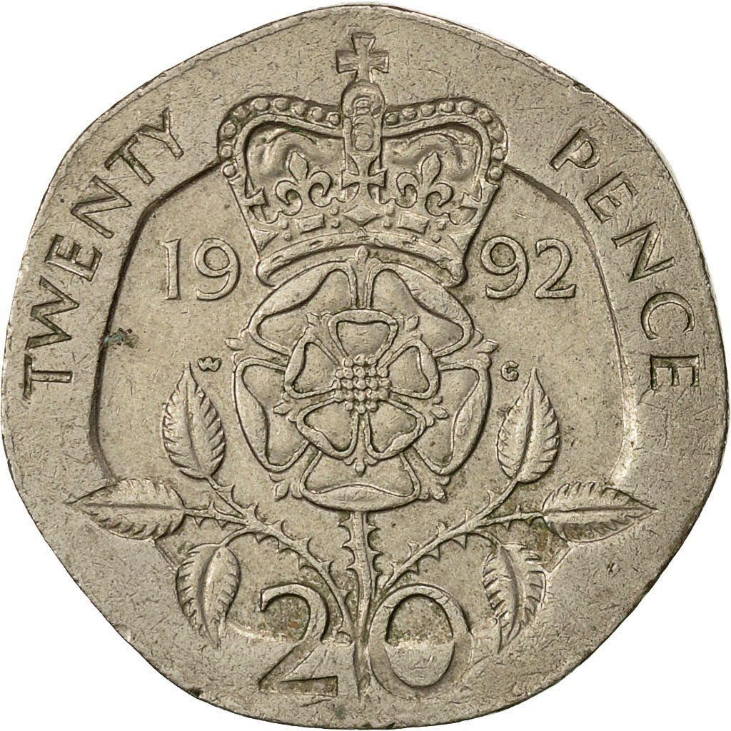 Twenty Pence 1992: Photo Great Britain, Elizabeth II, 20 Pence, 1992