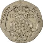 United Kingdom / Twenty Pence 1992 - reverse photo