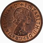 Penny 1962: Photo Coin - Penny, Elizabeth II, Great Britain, 1962