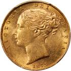Sovereign 1873 Shield: Photo Great Britain 1873 sovereign Fr-387i