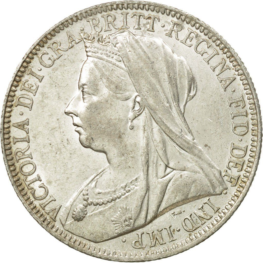 Florin 1901: Photo Coin, Great Britain, Victoria, Florin, Two Shillings, 1901