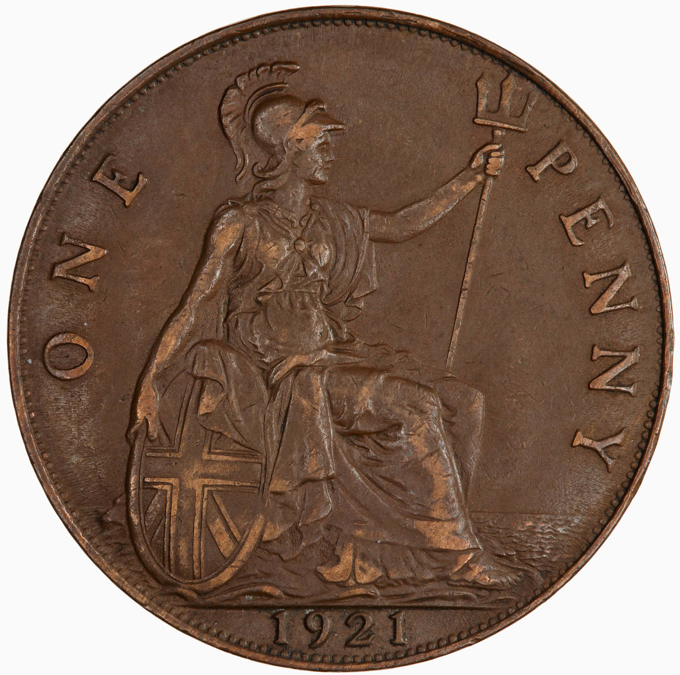 Penny 1921: Photo Coin - Penny, George V, Great Britain, 1921