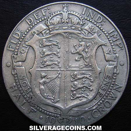Halfcrown 1910: Photo 1910 Edward VII British Silver Half Crown