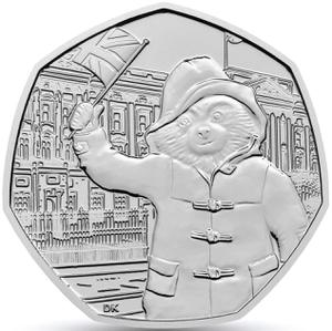 United Kingdom / Fifty Pence 2018 Paddington Bear at Buckingham Palace - reverse photo