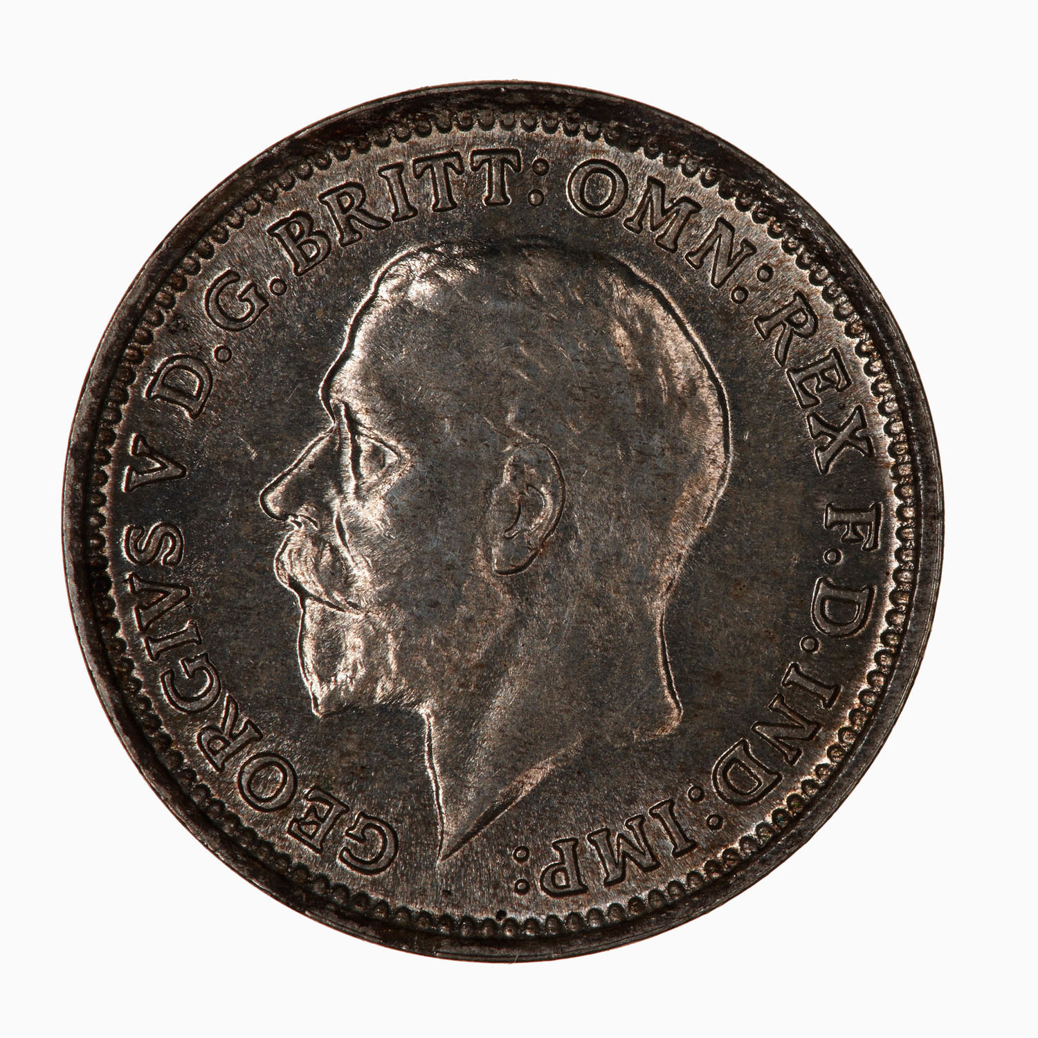 Threepence (Circulating): Photo Coin - Threepence, George V, Great Britain, 1928