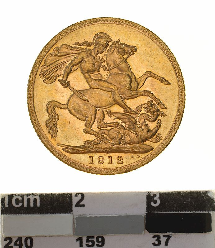 Sovereign 1912: Photo Coin - Sovereign, Victoria, Australia, 1912