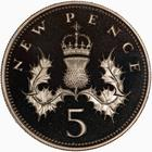 United Kingdom / Five Pence 1981 (Proof only) - reverse photo