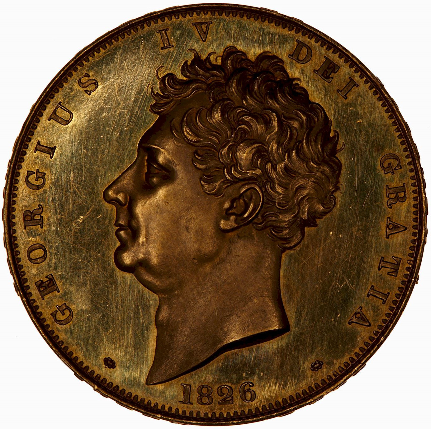 Five Pounds (Pre-decimal): Photo Coin - 5 Pounds, George IV, Great Britain, 1826
