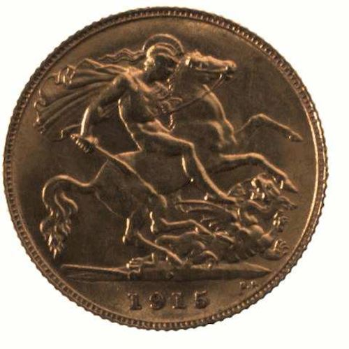 Half Sovereign 1915: Photo Coin - Half Sovereign, Western Australia, Australia, 1915
