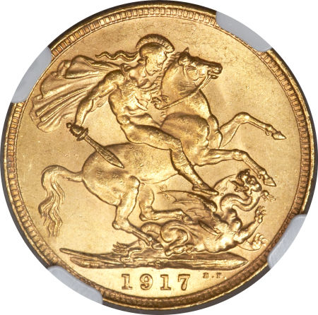 Sovereign 1917: Photo Australia 1917-S sovereign