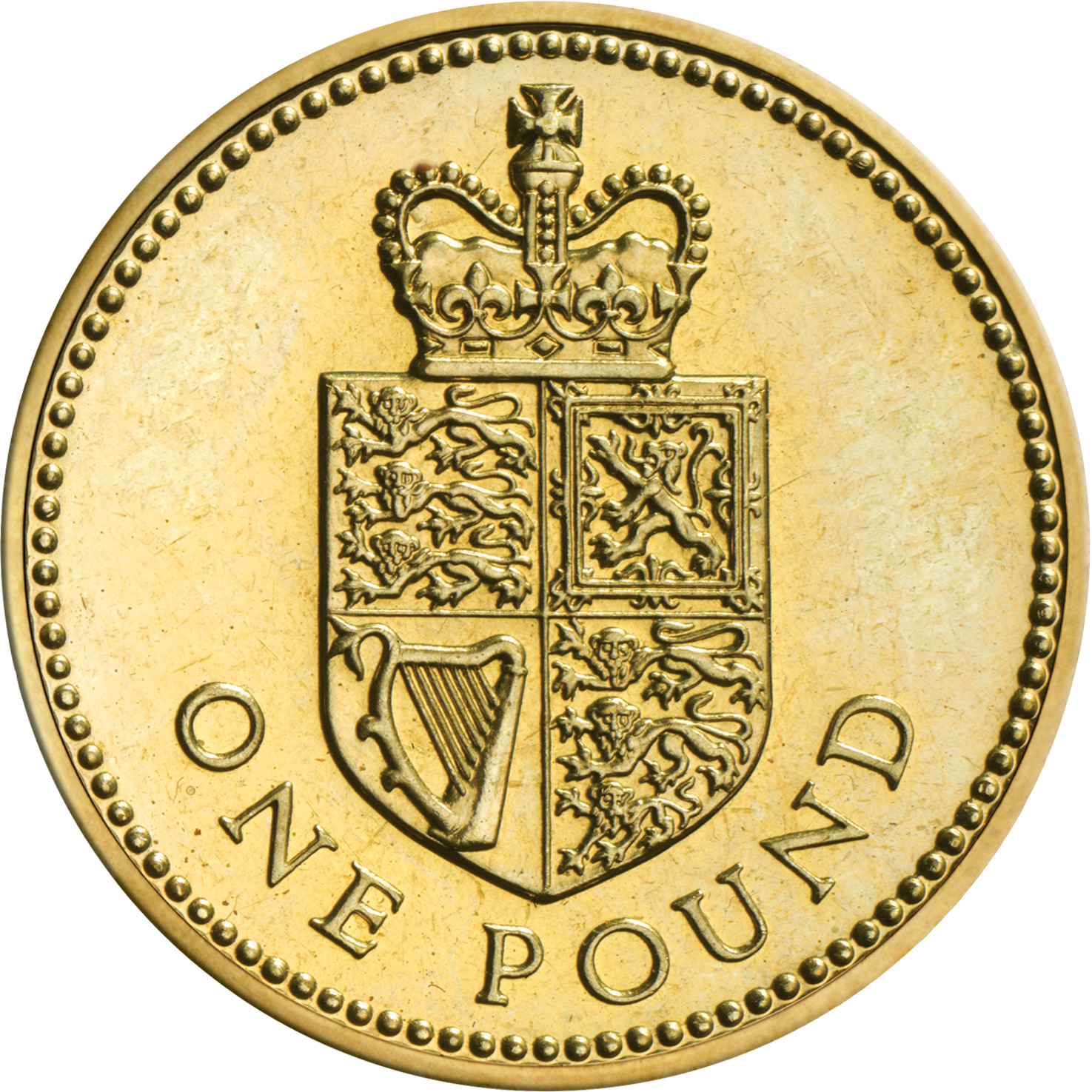 One Pound 1988 Shield: Photo 1988 One Pound Coin