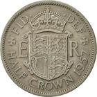 Halfcrown 1957: Photo 1957 Elizabeth II British Half Crown