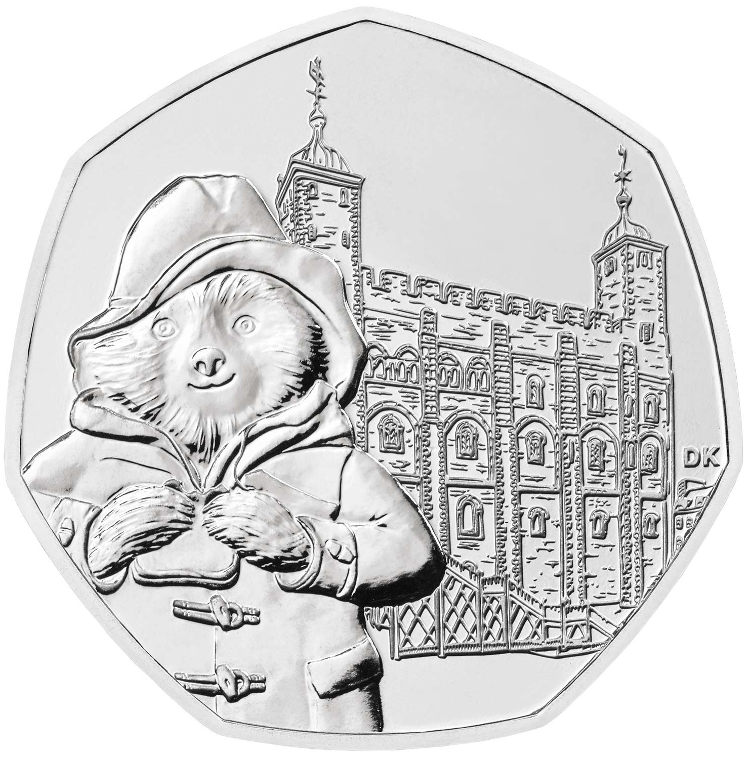 Fifty Pence 2019 Paddington Bear at the Tower: Photo Paddington at the Tower 2019 United Kingdom Brilliant Uncirculated Coin