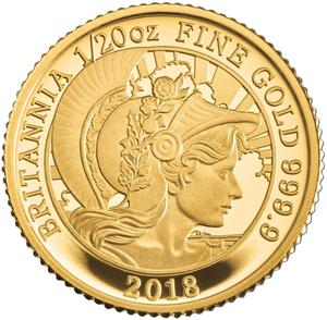 United Kingdom / Gold Twentieth-Ounce (1/20 oz) - reverse photo
