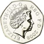 United Kingdom / Fifty Pence 2008 (Dent design) - obverse photo
