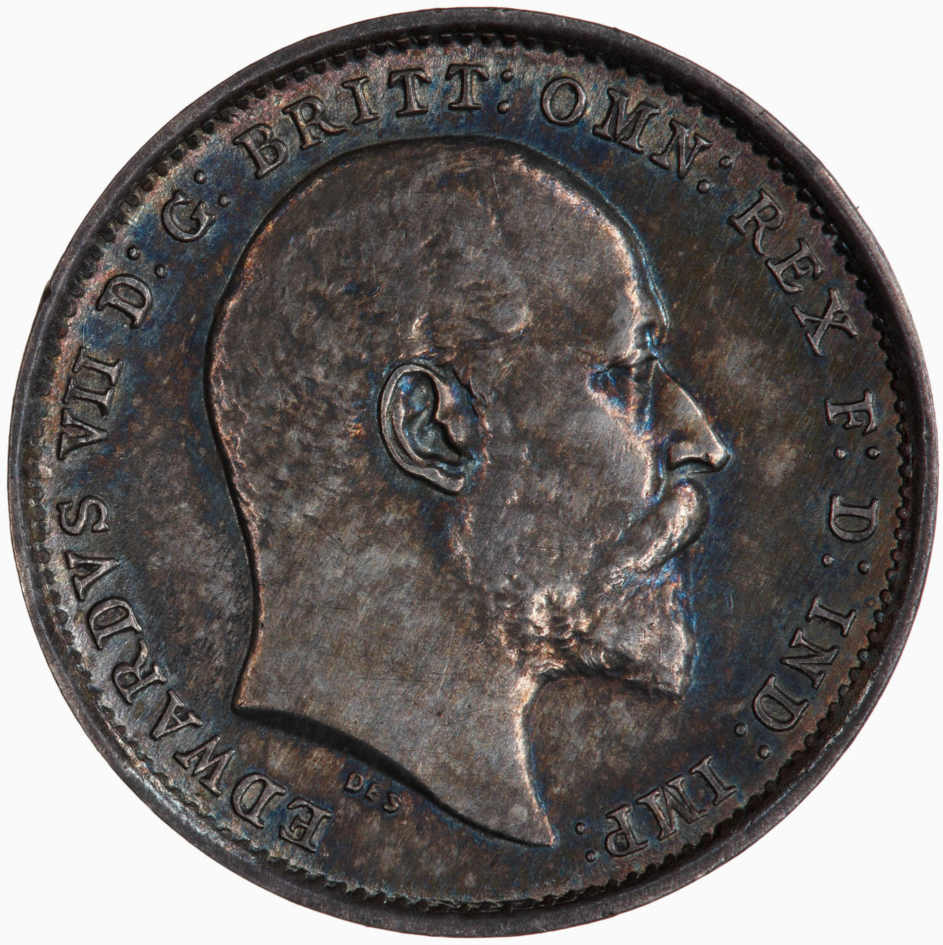 Threepence (Circulating): Photo Coin - Threepence, Edward VII, Great Britain, 1902