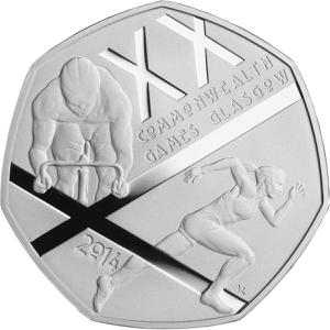 United Kingdom / Fifty Pence 2014 Commonwealth Games - reverse photo