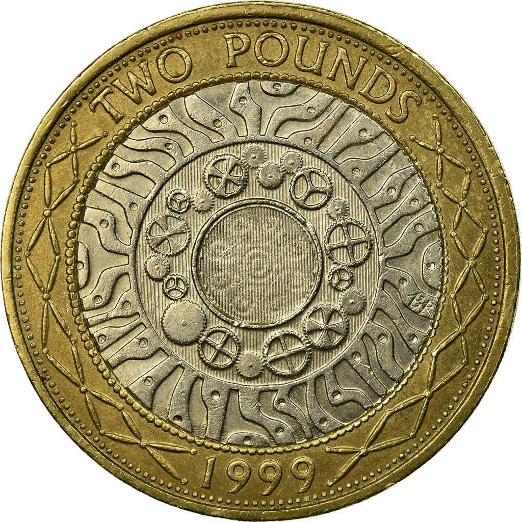 Two Pounds 1999 Technology: Photo Coin, Great Britain, 2 Pounds, 1999