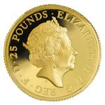United Kingdom / Gold Quarter Ounce 2015 Britannia (Proof) - obverse photo