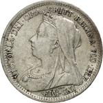 United Kingdom / Threepence 1900 (Circulating) - obverse photo