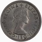 Sixpence 1954: Photo Coin - Sixpence, Elizabeth II, Great Britain, 1954