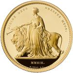 United Kingdom / Gold Five Ounces 2019 Una and the Lion - reverse photo