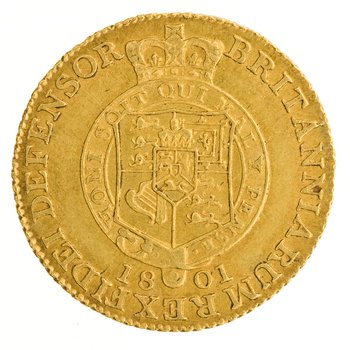 Half Guinea 1801: Photo Gold 1/2 guinea, Great Britain