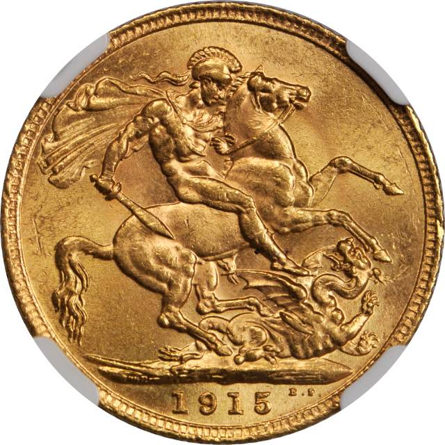 Sovereign 1915: Photo Great Britain 1915 sovereign