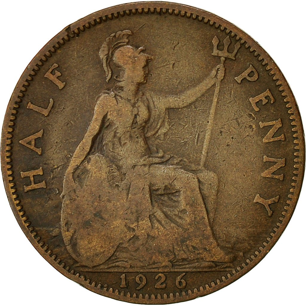 Halfpenny 1926: Photo Coin, Great Britain, 1/2 Penny, 1926