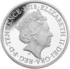 United Kingdom / Ten Pence 2018 F - Fish and Chips / Silver Proof FDC in capsule - obverse photo