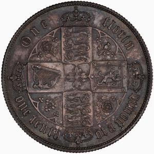 United Kingdom / Florin 1868 - reverse photo