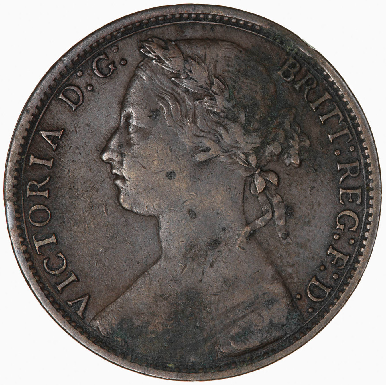 Penny 1875: Photo Coin - Penny, Queen Victoria, Great Britain, 1875