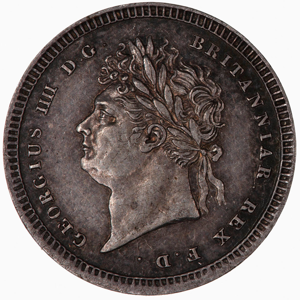 Maundy Twopence (Pre-decimal): Photo Coin - Twopence, George IV, Great Britain, 1822