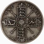 Florin 1921: Photo Coin - Florin (2 Shillings), George V, Great Britain, 1921