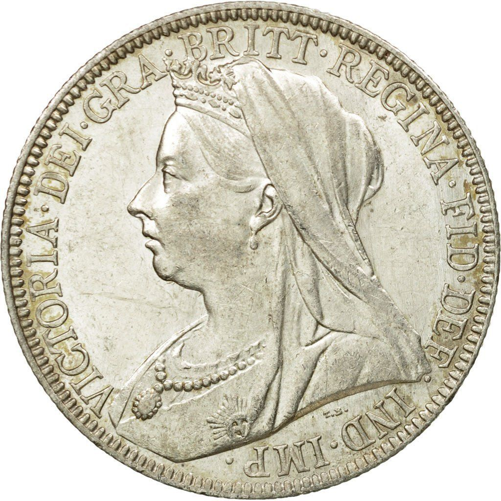 Florin 1894: Photo Coin, Great Britain, Victoria, Florin, Two Shillings, 1894