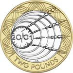 United Kingdom / Two Pounds 2001 Marconi - reverse photo