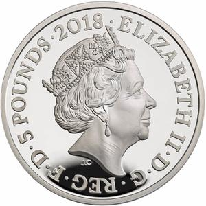 United Kingdom / Five Pounds 2018 Peace - obverse photo