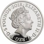 United Kingdom / Five Pounds 2018 Lawrence of Arabia - obverse photo