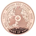United Kingdom / Five Pounds 2020 Red Cross / Gold Proof FDC - reverse photo