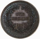 Decade 1848 Pattern: Photo Pattern Coin - Florin (Decade), Queen Victoria, Great Britain, 1848