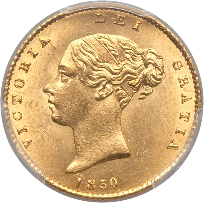 Half Sovereign 1850: Photo Great Britain 1850 1/2 sovereign