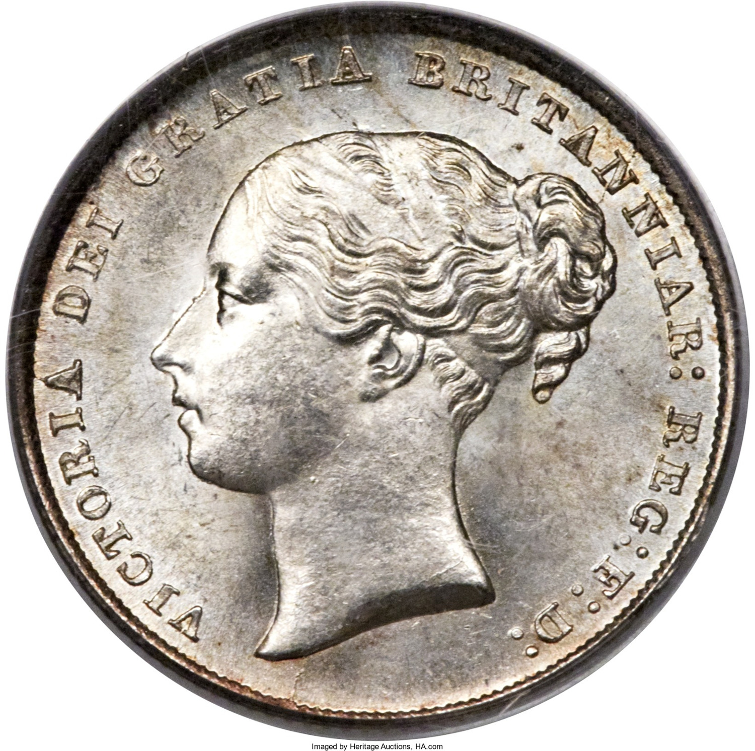 Shilling: Photo Coin - Shilling, Queen Victoria, Great Britain, 1844