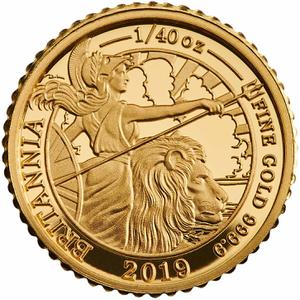 United Kingdom / Gold Fortieth-Ounce (1/40 oz) - reverse photo