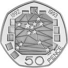 United Kingdom / Fifty Pence 1992 Single Market - reverse photo