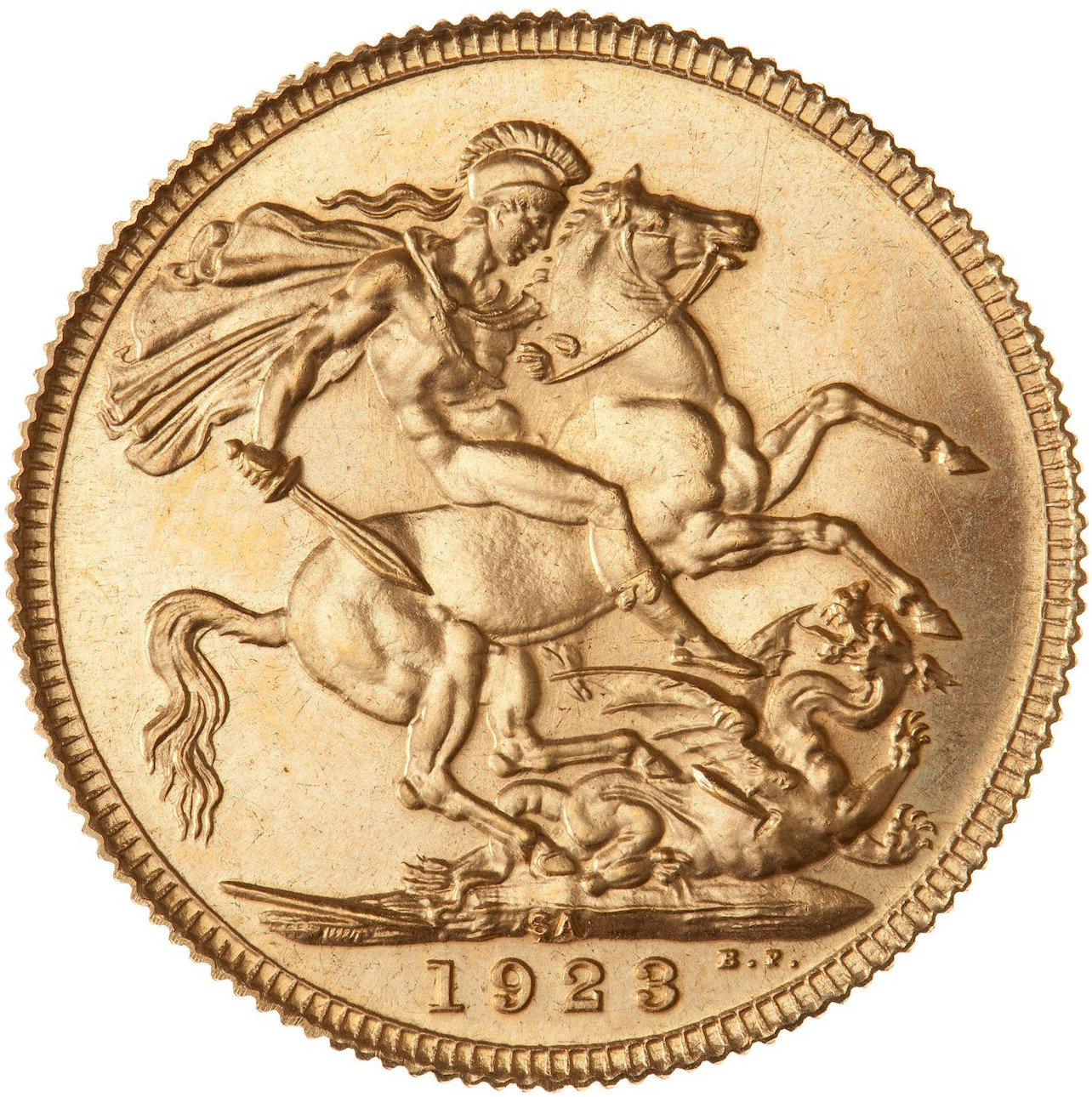 Sovereign (St George): Photo Proof Coin - Sovereign, South Africa, 1923