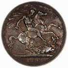Crown 1892: Photo Coin - Crown, Queen Victoria, Great Britain, 1892