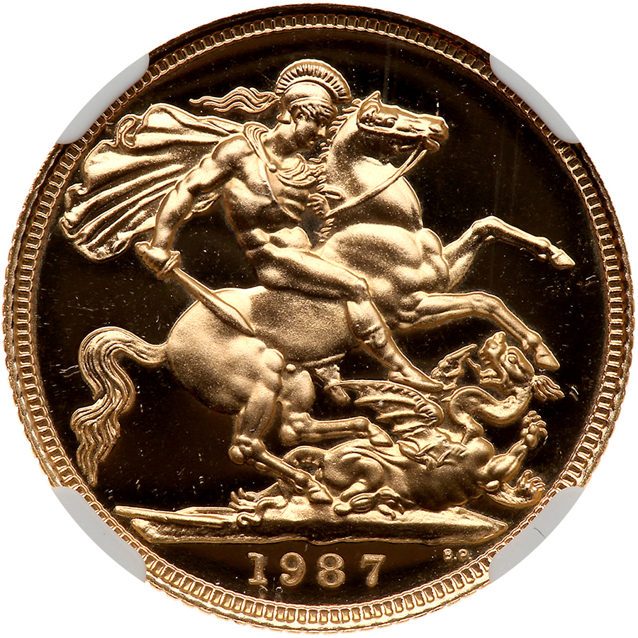 Sovereign 1987 (Proof only): Photo Great Britain 1987 sovereign