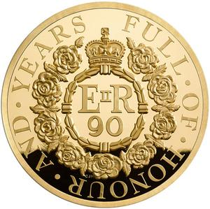 United Kingdom / Gold One Kilo 2016 Queen's 90th Birthday - reverse photo