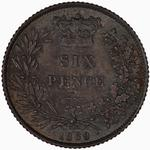 Sixpence 1869: Photo Coin - Sixpence, Queen Victoria, Great Britain, 1869
